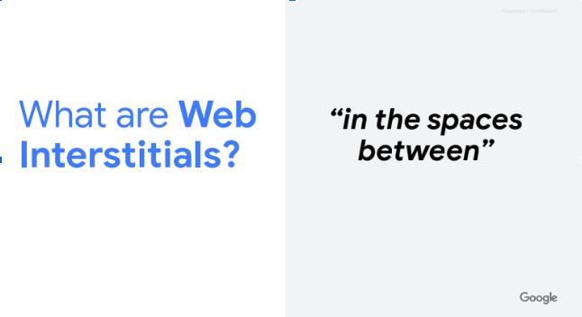 O que são Google Web Interstitials?