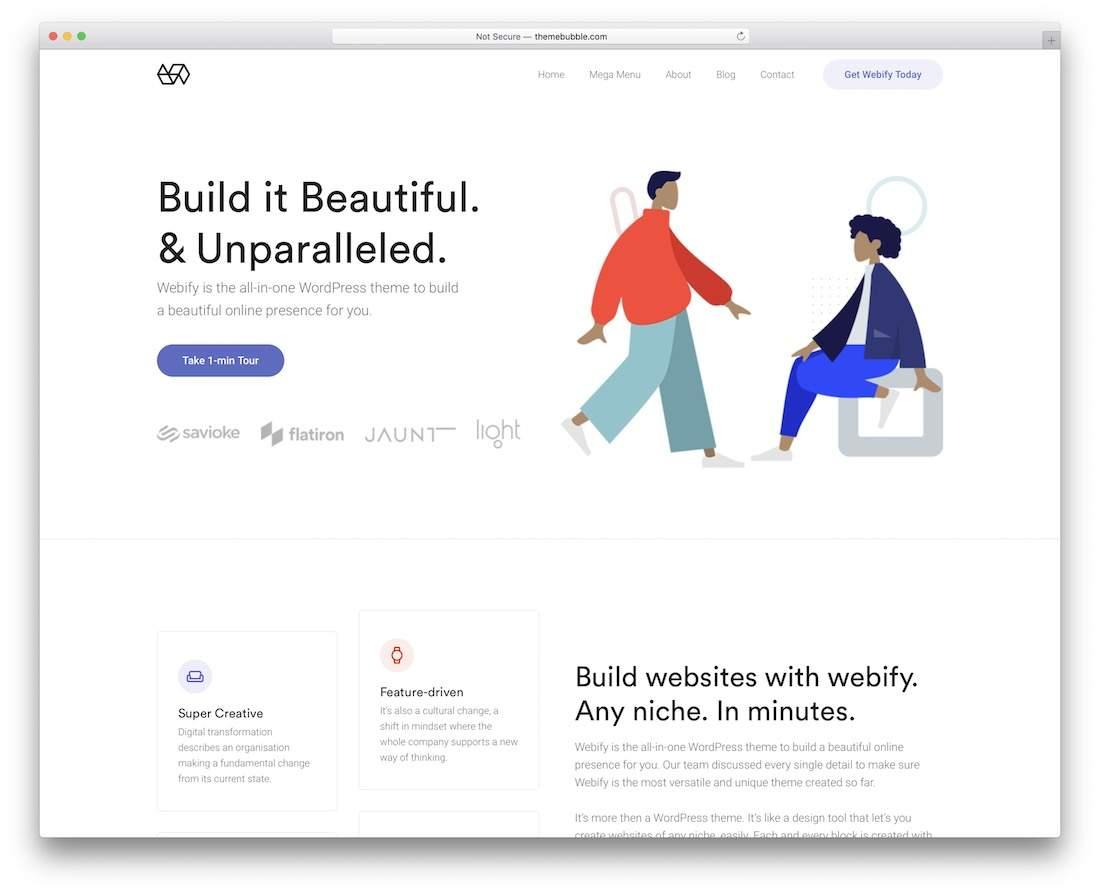 Webify clean minimalist design
