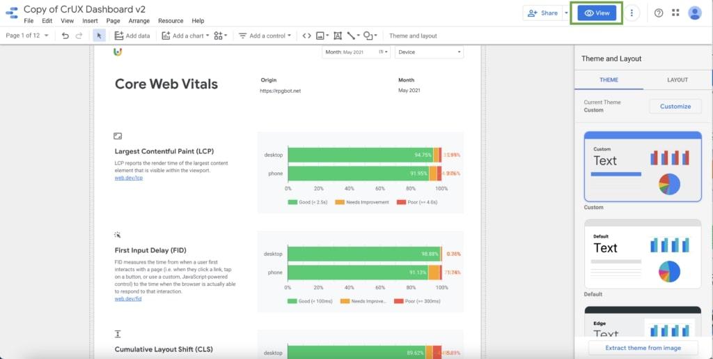 4_View Data UX Chrome Google Data Studio